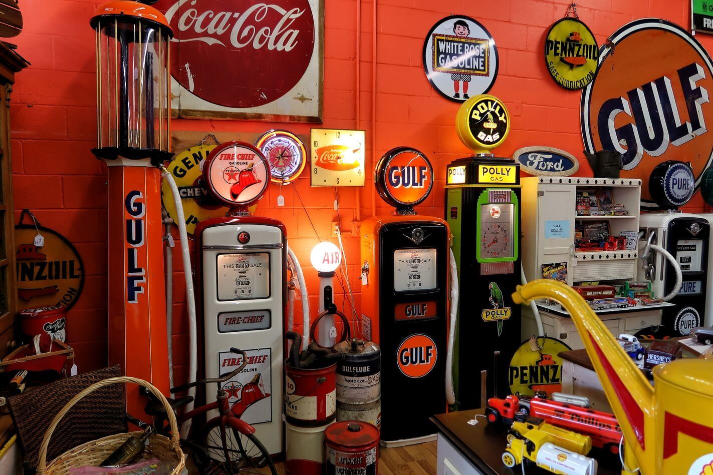 expressions unlimited landrum south carolina sc travel guide vintage gas pumps