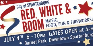 red white and boom spartanburg