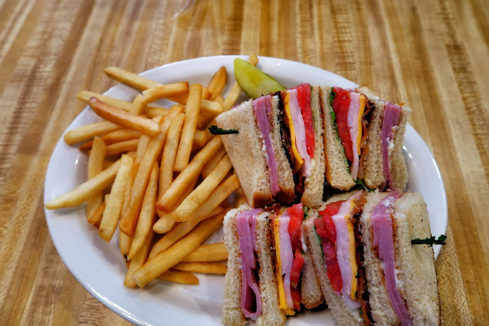 The Club Sandwhich, The Grille on Main, Newberry South Carolina