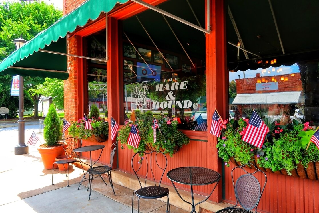 the hare and hound pub landrum south carolina sc travel guide food