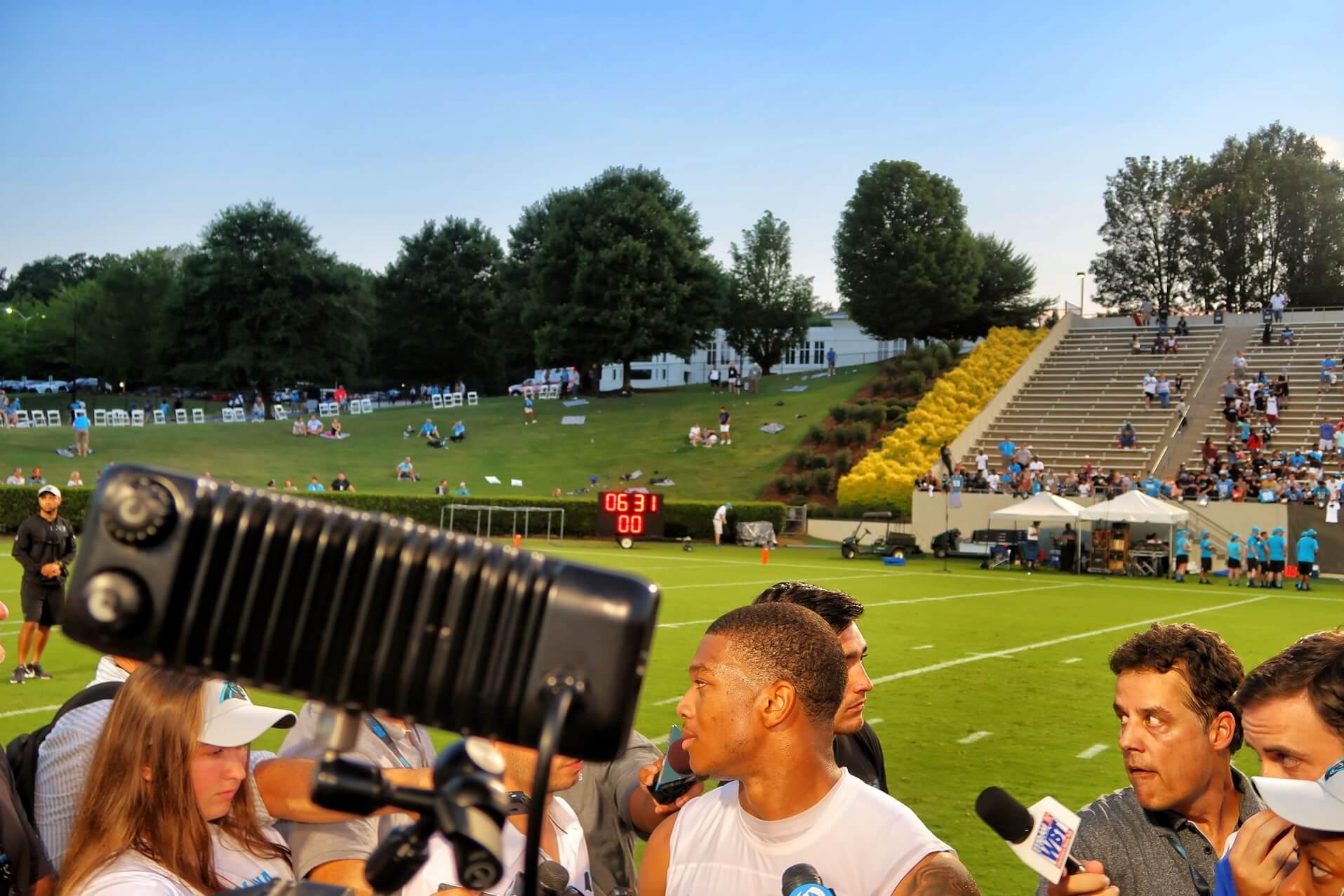 Carolina Panthers Training Camp 2018 DJ Moore