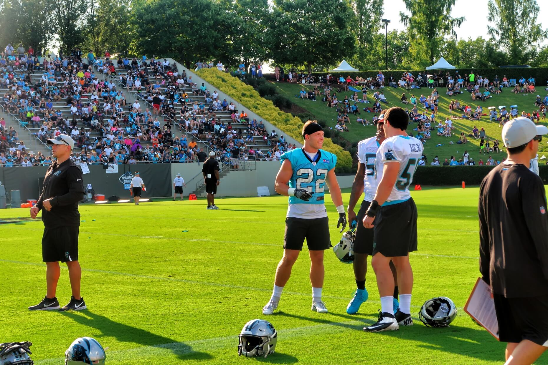 Carolina Panthers Training Camp 2018 McCaffrey Luke Kuechly Thomas Davis