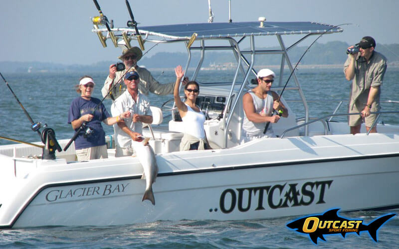 outcast sport fishing boat 2 - great whit sharks in south carolina